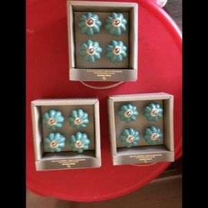 3 packages /4 CASA DECOR TEAL GREEN Drawer pulls